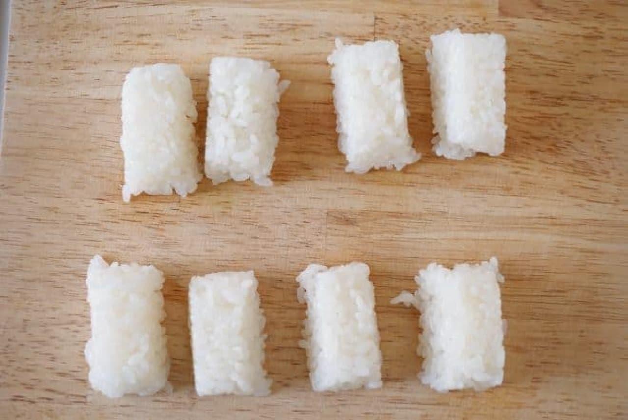 製氷皿で握り寿司