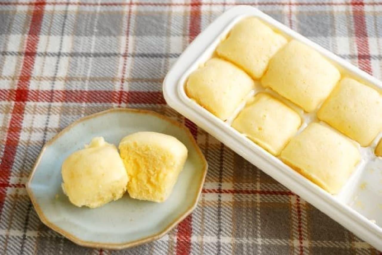 製氷皿で蒸しパン