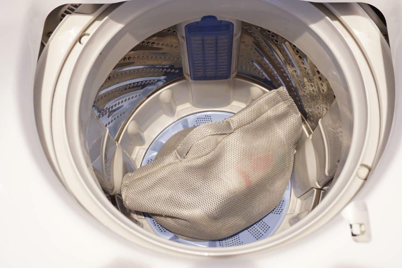 キャンドゥ「そのまま洗えるランドリーバッグ」