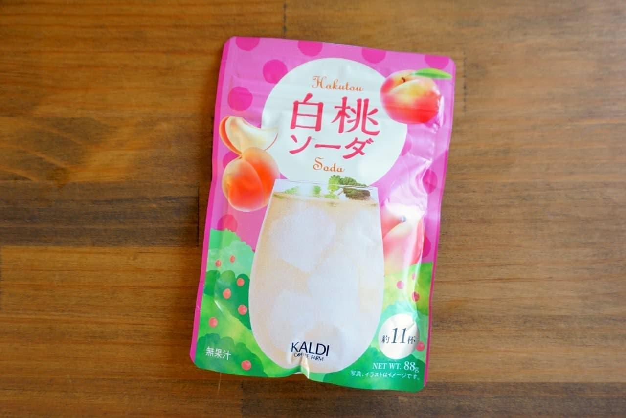 カルディの白桃ソーダ