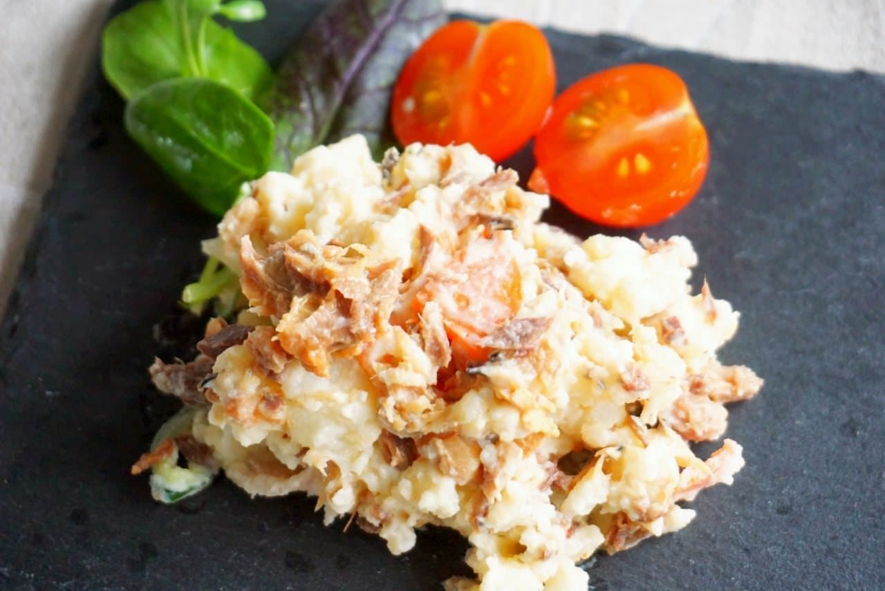 サバ味噌缶のポテトサラダ