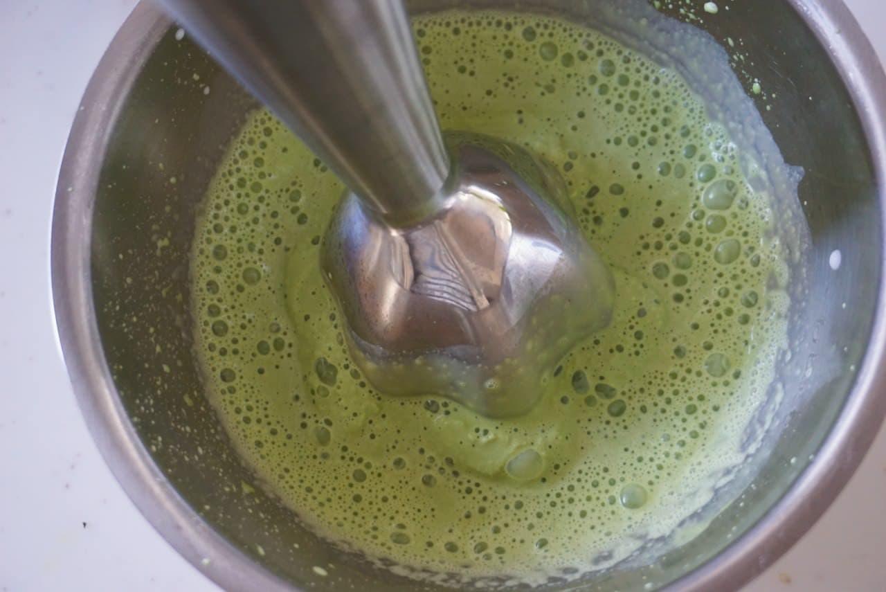 抹茶シェイクの作り方