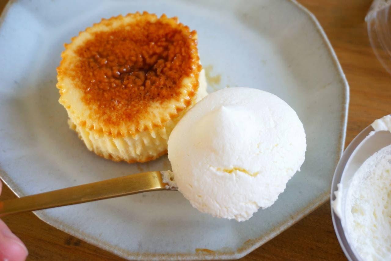 ローソンのバスチー×プレミアムロールケーキのクリーム