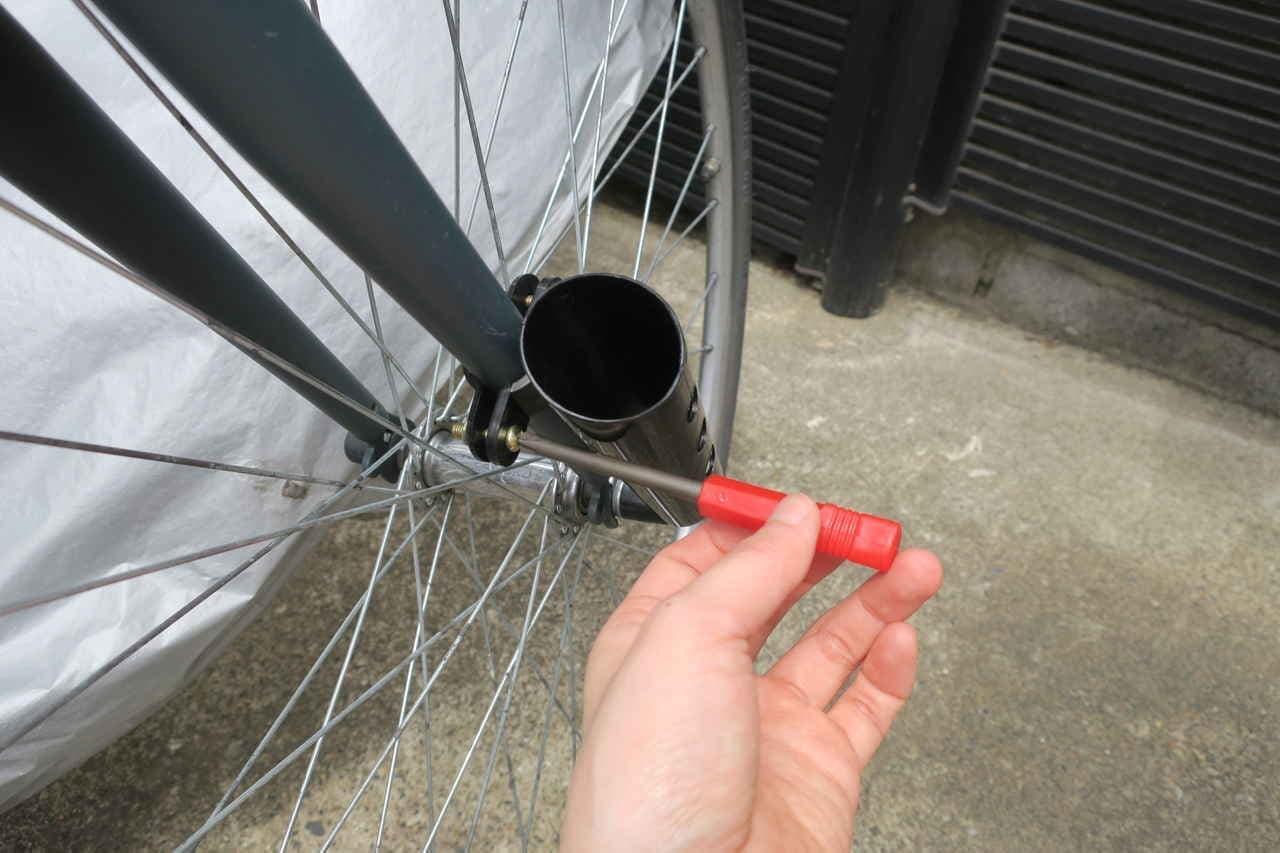 ダイソー自転車傘ホルダー
