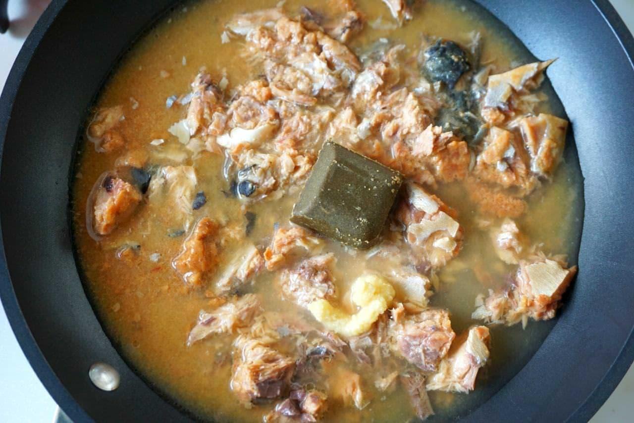 サバの味噌煮缶カレー