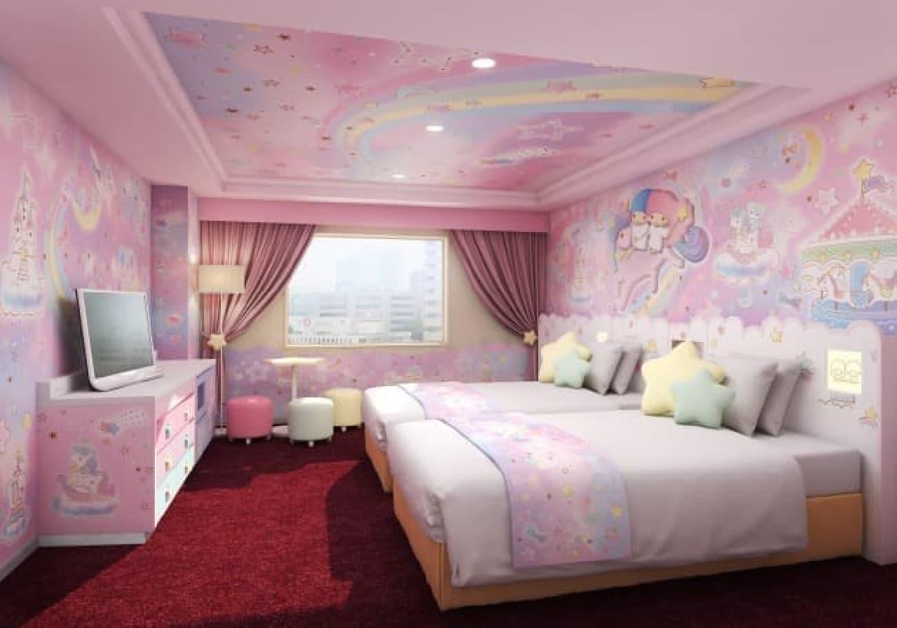 サンリオテーマの客室 京王プラザホテル多摩