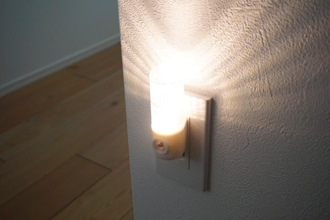ダイソー「LEDセンサー付ナイトライト」