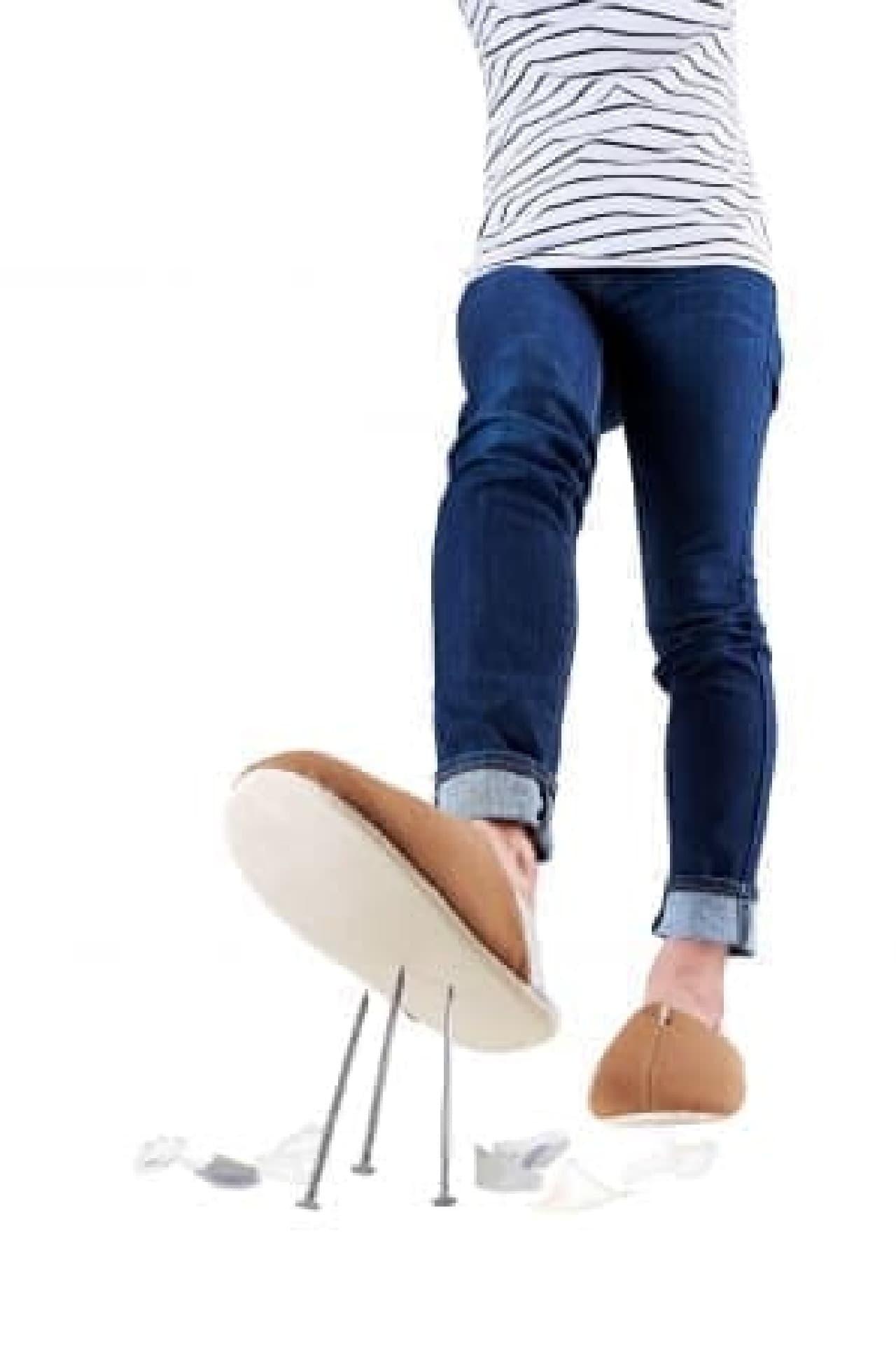 ガラス片から足を守る!普段から履けて洗える防災スリッパ「足まもりっぱ」