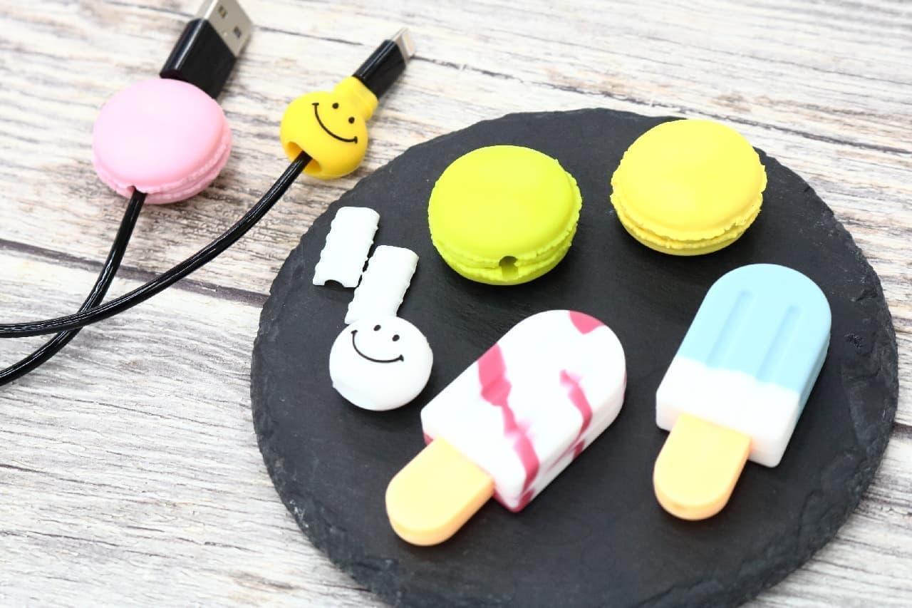 【100均】充電ケーブルを断線から守る♪マカロンやアイスキャンデーの形をした可愛いカバー
