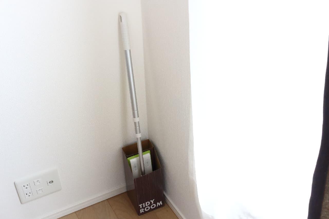 掃除用具の収納に困ったら--100均のワイパースタンドやクリーナーボックスが便利