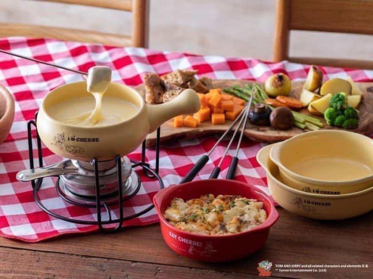 トムとジェリーが「212 KITCHEN STORE」とコラボ--チーズフォンデュの鍋やグラタン皿など