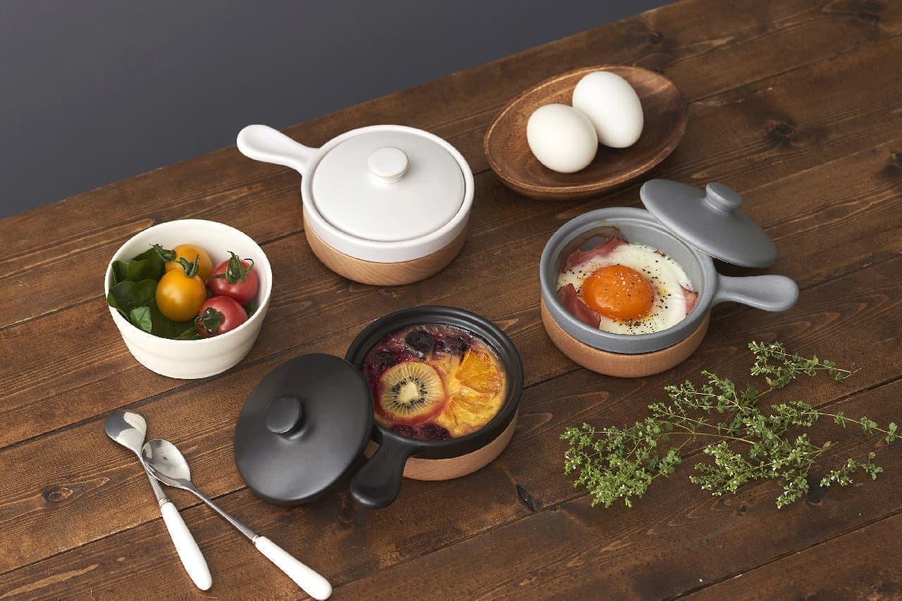 ベーコンエッグを簡単&おしゃれに♪レンジやオーブンで調理、そのまま食卓に出せる「ぽわっとエッグベーカー」