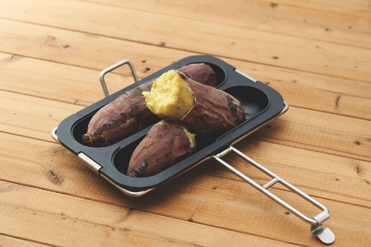 ガス火専用のホクホク焼き芋プレートとギュギュっとホットサンドプレート