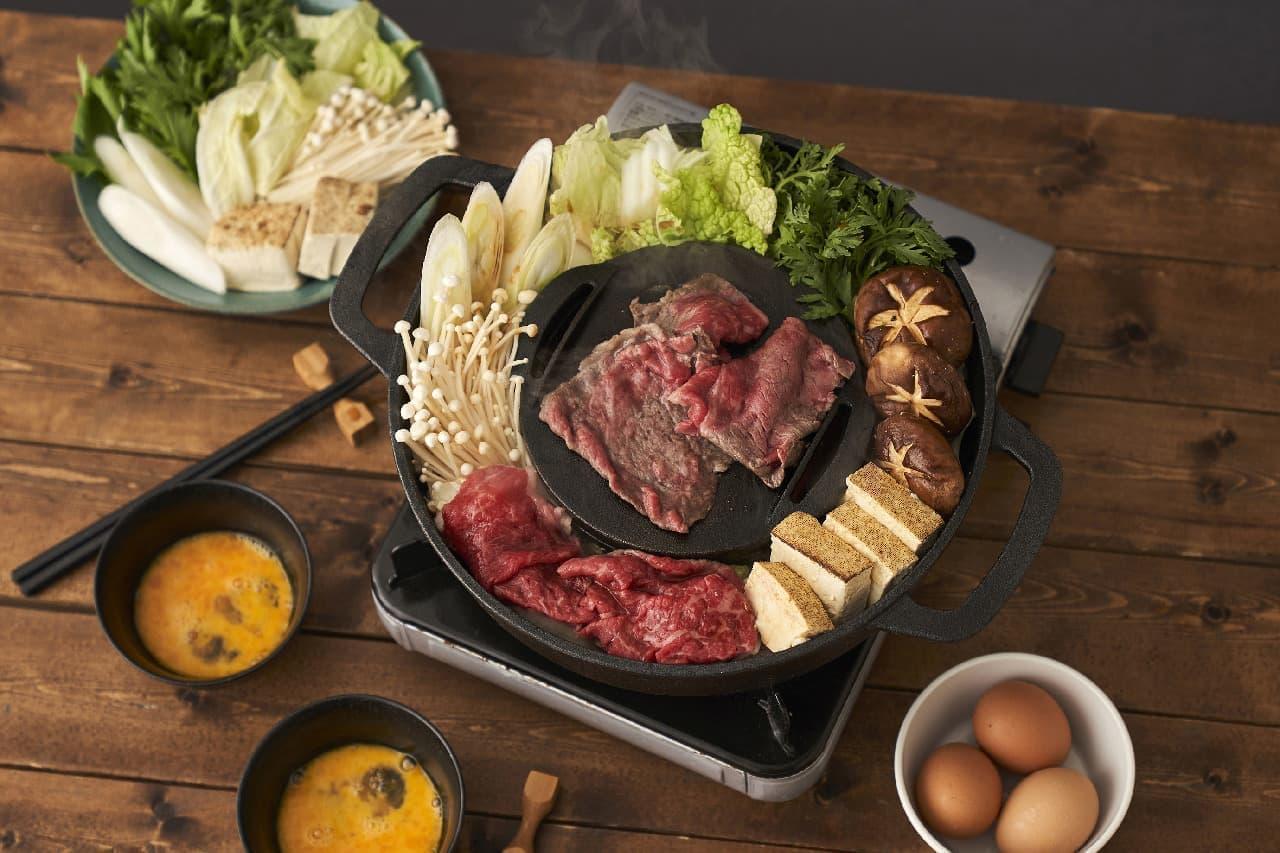 すき焼きしながらジューシーな焼き肉も♪ハイブリッドな味わいを楽しめる鉄鍋
