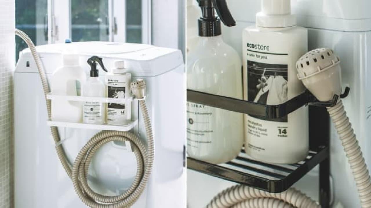 給水ホースもすっきり収納--山崎実業からバスやランドリー、トイレなどの新製品