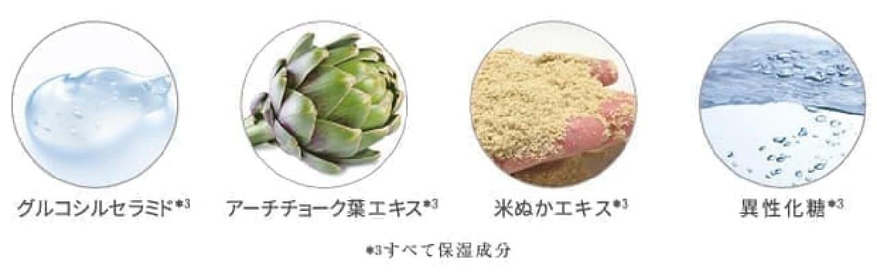 グルコシルセラミド、アーチチョーク葉エキス、米ぬかエキス、異性化糖