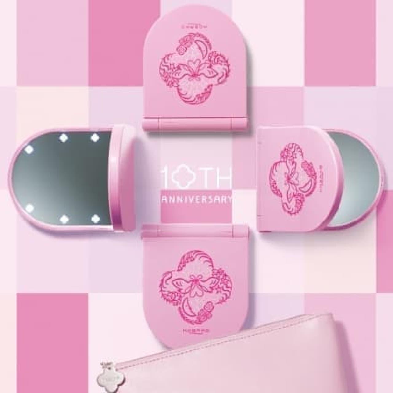 コバコ「コスメティックミラーセット ピンク」