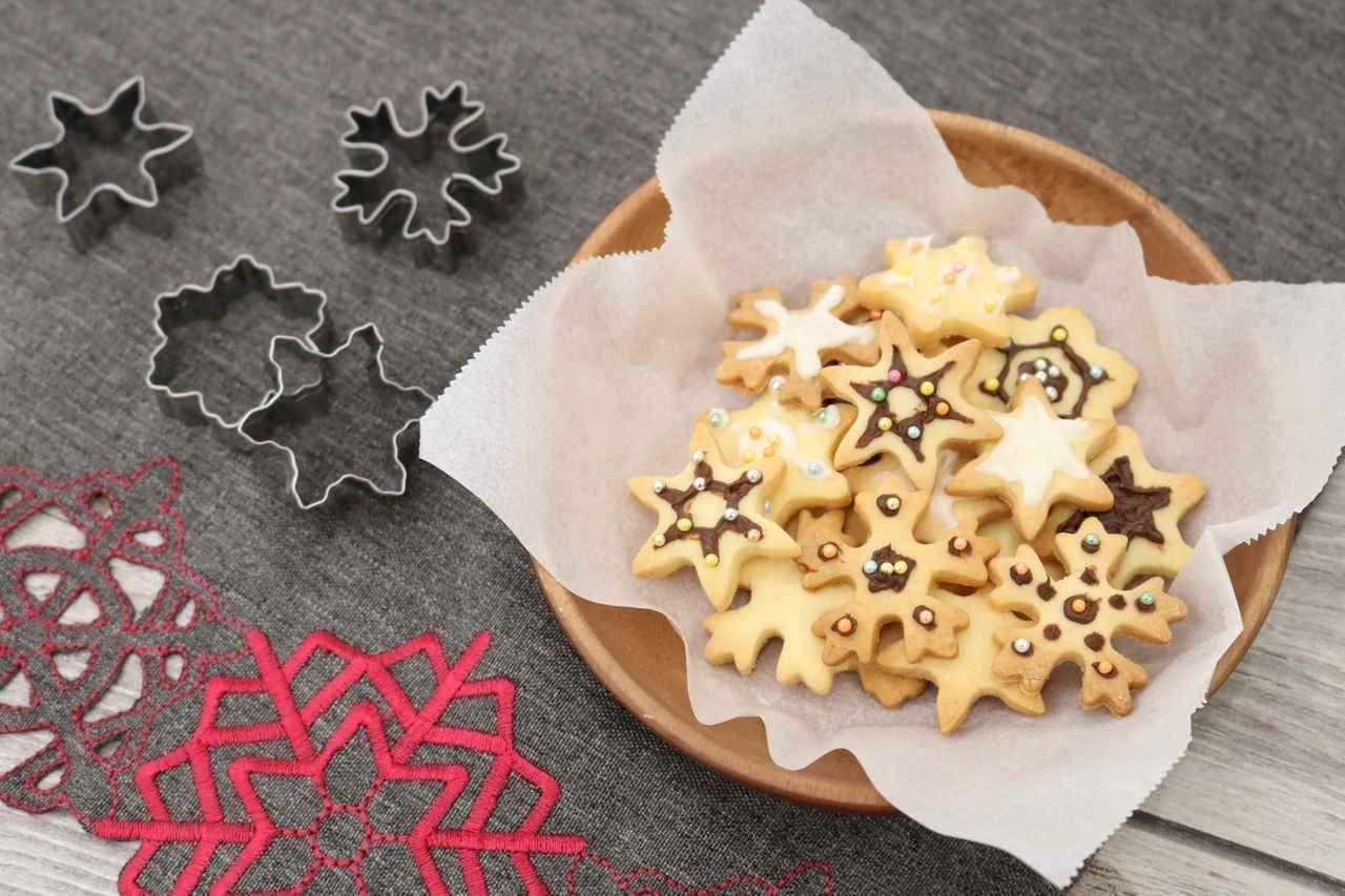 セリア 雪の結晶クッキー型