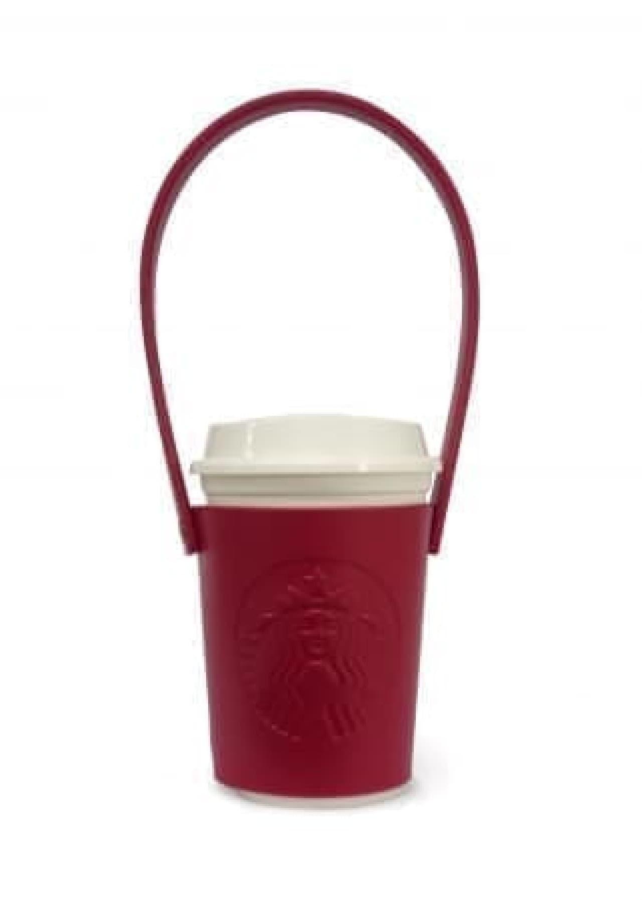 真っ赤で可愛いカップホルダーに注目♪--「スターバックス ホリデー チアー ギフト」は素敵な3点セット
