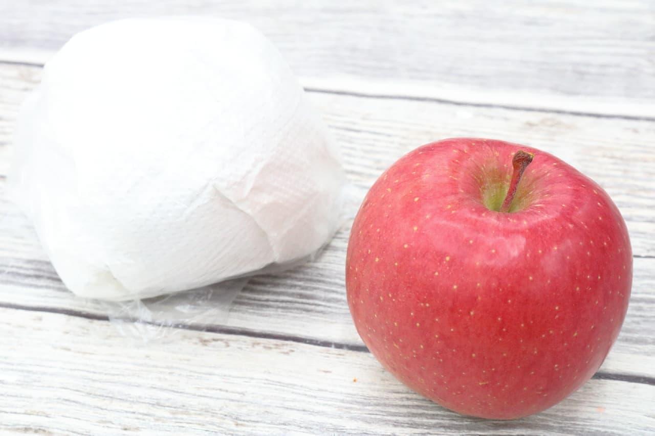 紙に包んでポリ袋に--リンゴの美味しい保存方法