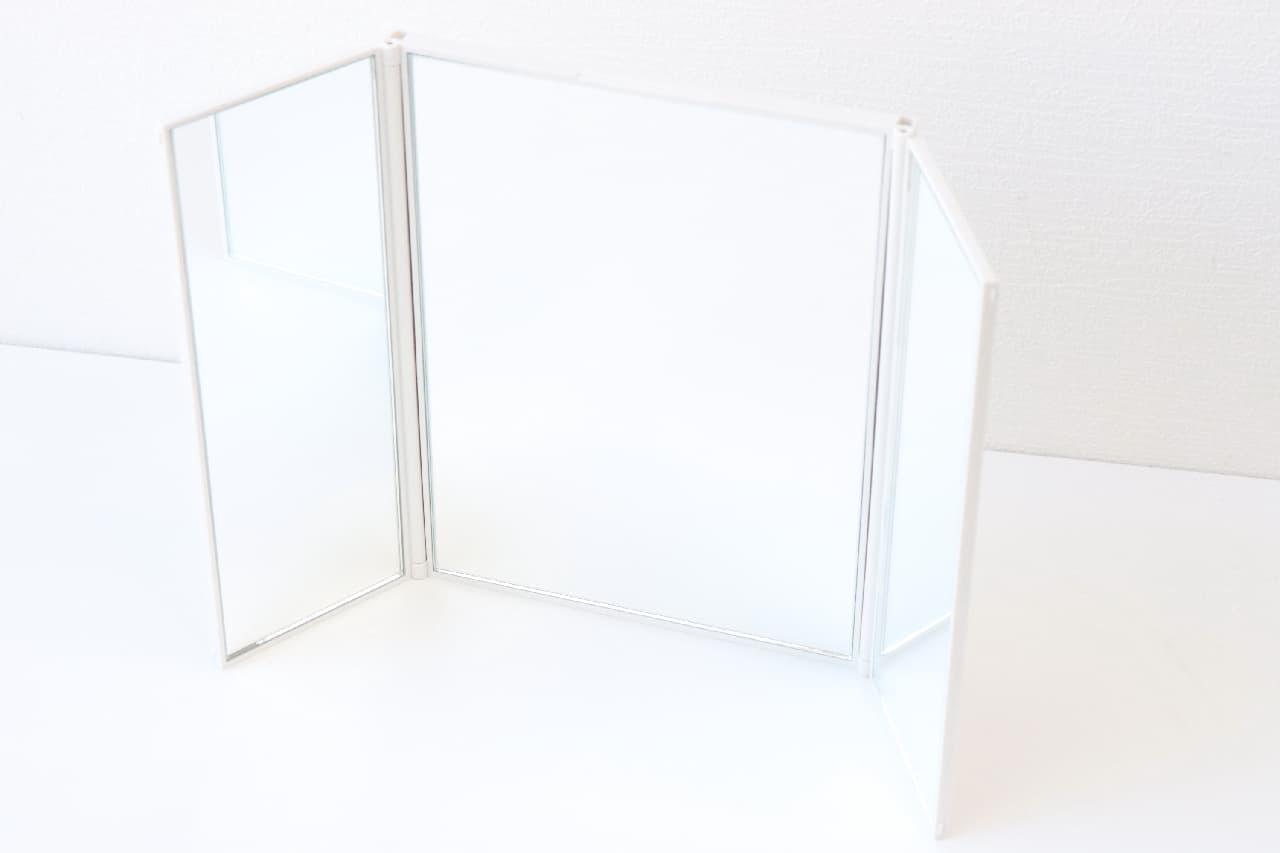 スチロール折りたたみ3面鏡