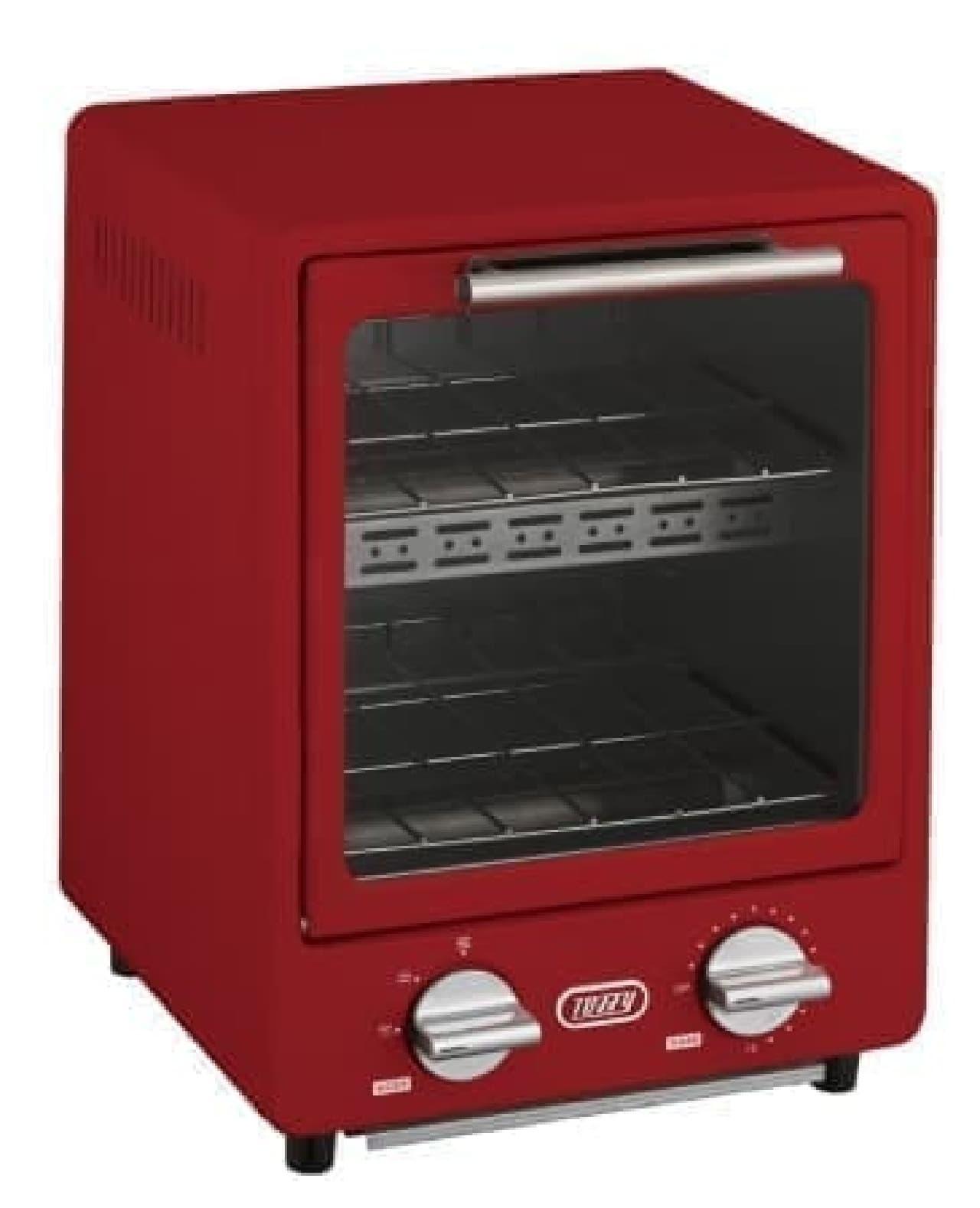 Toffyオーブントースターの新色「アンティークレッド」