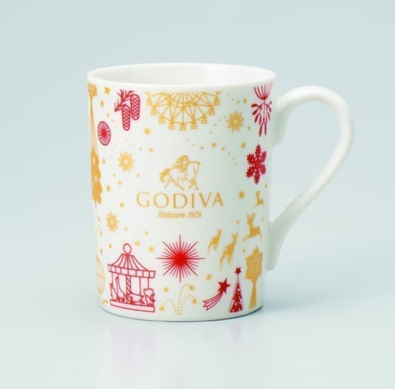 プレゼントは赤&白の可愛いマグカップ♪ゴディバがクリスマスのキャンペーン実施