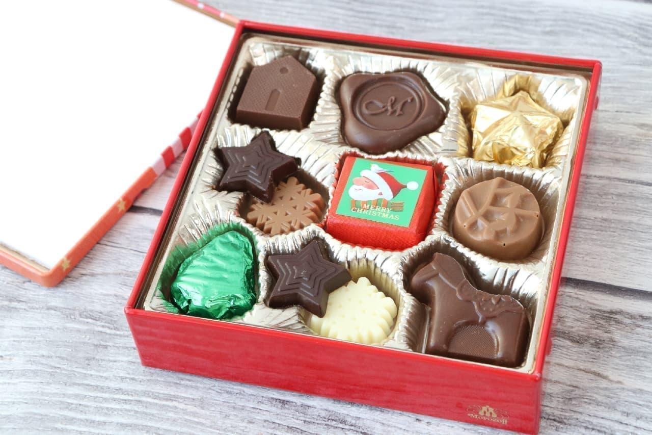 モロゾフのクリスマスチョコレート、ファヤージュ、クリスマスカード