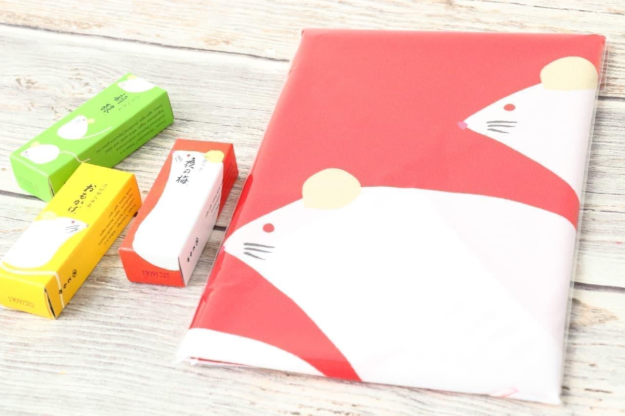 美しい紅白で新年をお祝い♪とらや「干支ふろしき 子」--羊羹も可愛いパッケージに