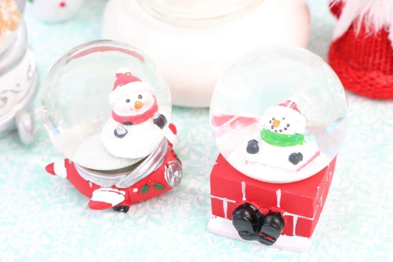 【ダイソー】1個100円でこの可愛さ♪雪降るスノードームでクリスマス気分を味わおう
