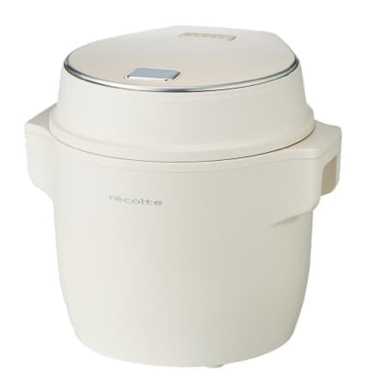2.5合炊きのおしゃれな炊飯器が「レコルト」から--鶏ハムやローストビーフ、パンも作れる
