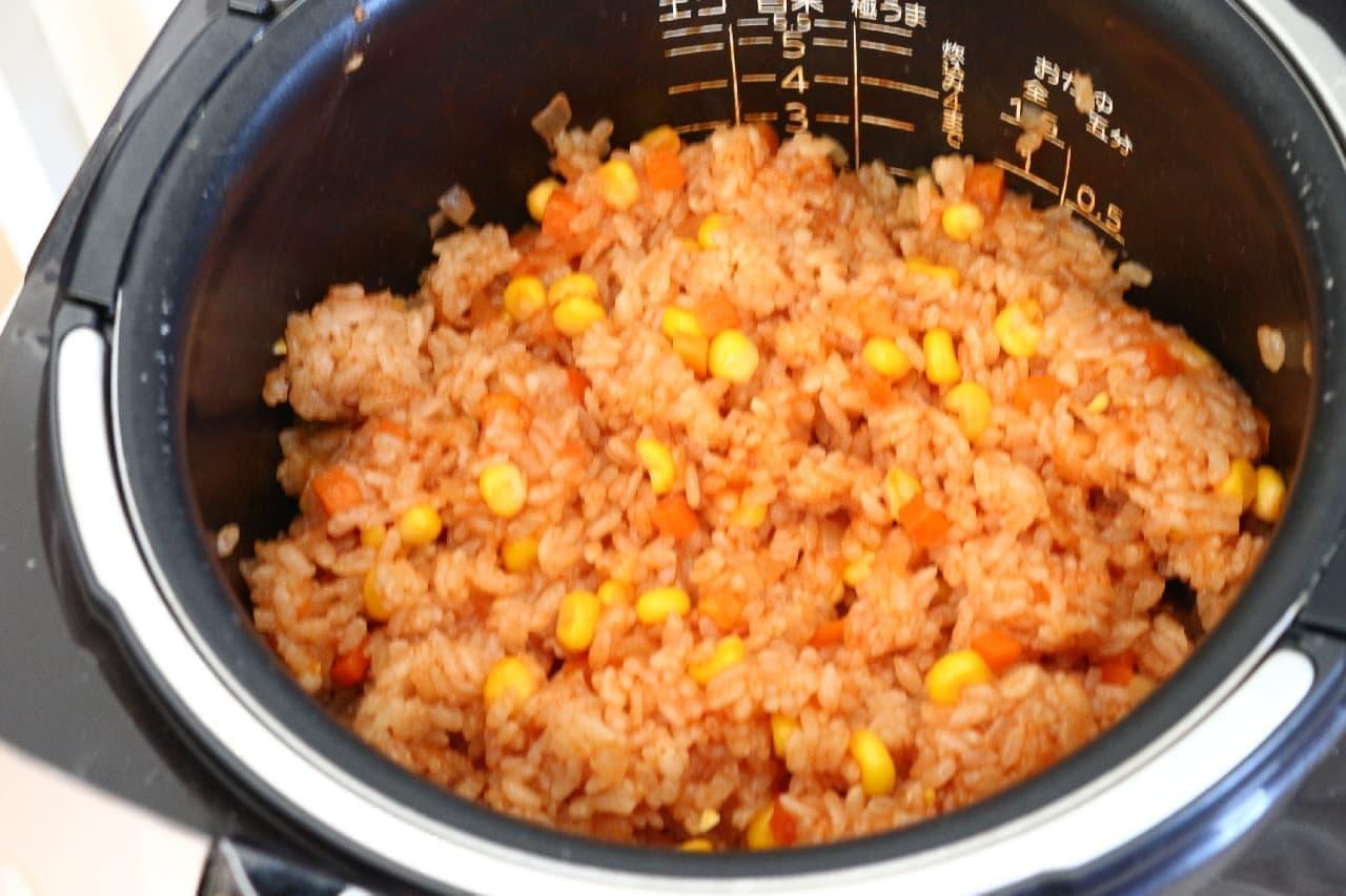 炊飯器で簡単!ケチャップライスのレシピ--余ったケチャップの消費にも