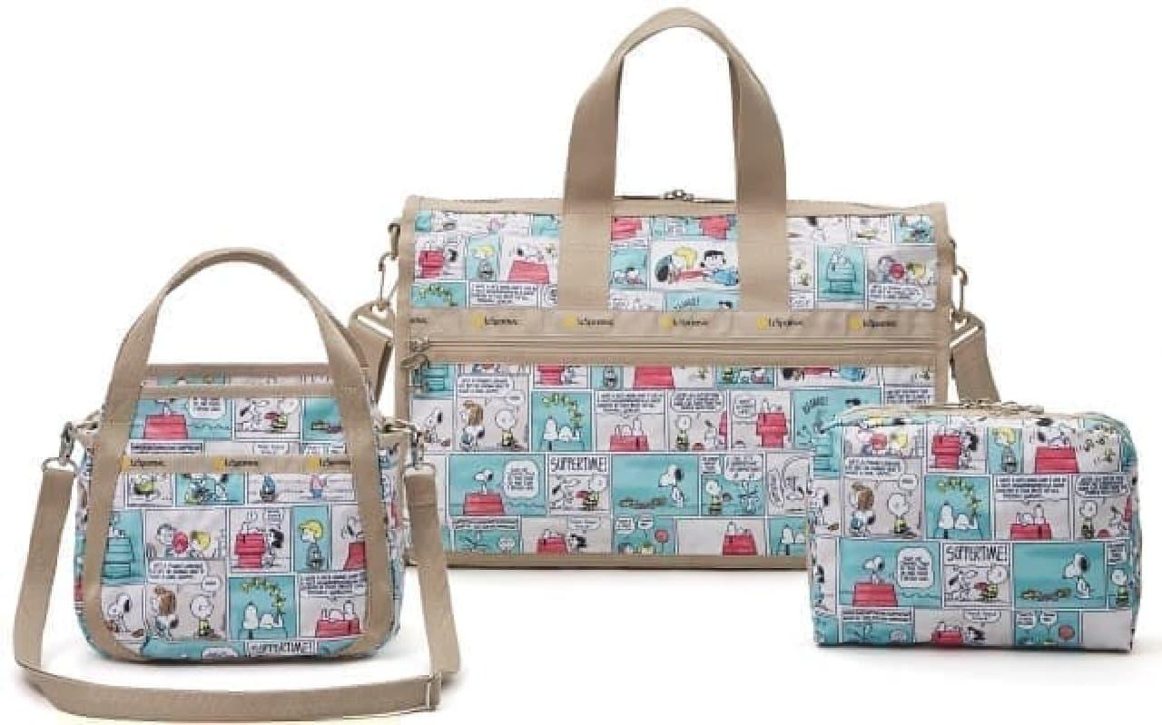 日本限定、スヌーピーとレスポートサックのコラボ商品--ヴィンテージ感あるバッグやポーチなど