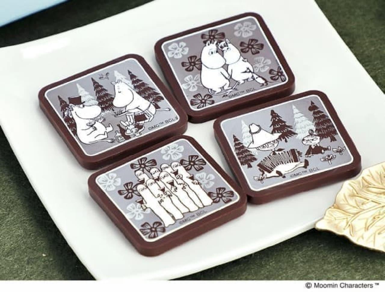ムーミンカフェから「プレートチョコレート FAMILY」--可愛いボックス入り、バレンタインやホワイトデーに