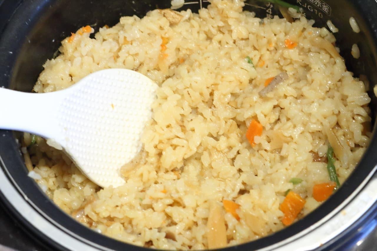 余ったお餅をちょい足し♪「炊き込みご飯の素」で作るおこわ風レシピ