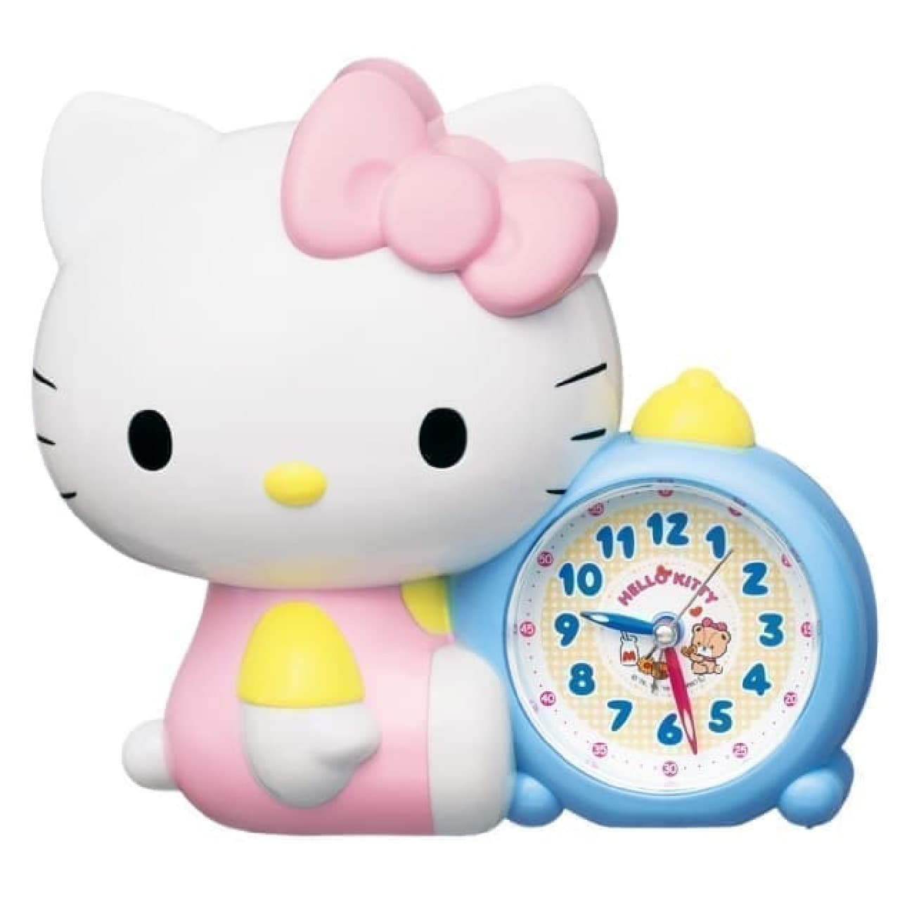 入園・入学祝いに♪ハローキティの目覚まし時計--時計の読み方を学習しやすいデザイン