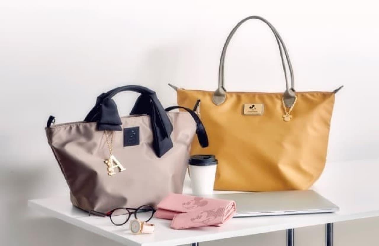 ディズニーストアに春向けのバッグやファッション雑貨--ミッキーを上品にデザイン、職場にも