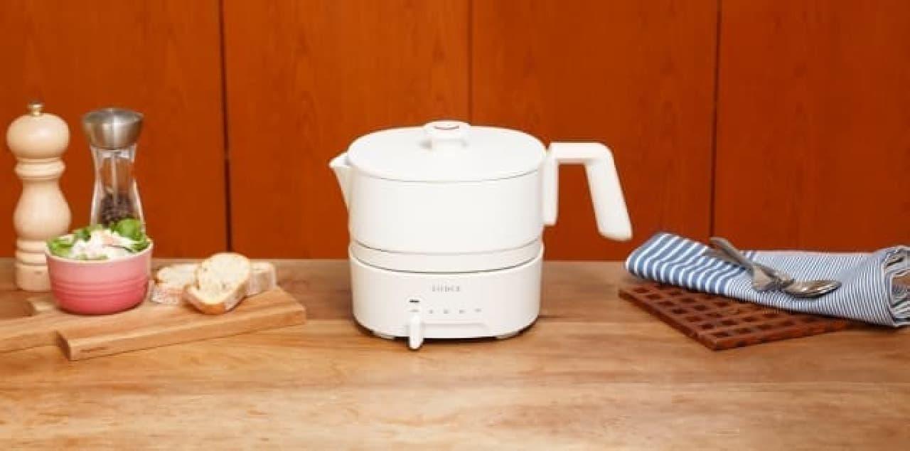 鍋1人分に便利な「おりょうりケトル ちょいなべ」から新色「アイボリー」--ほっこり温かみある色合い