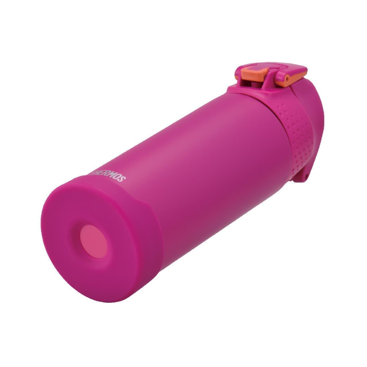 大人のジム通いに♪0.5Lの「サーモス 真空断熱スポーツボトル」--通勤バッグにすっきり、便利なワンタッチ・オープン