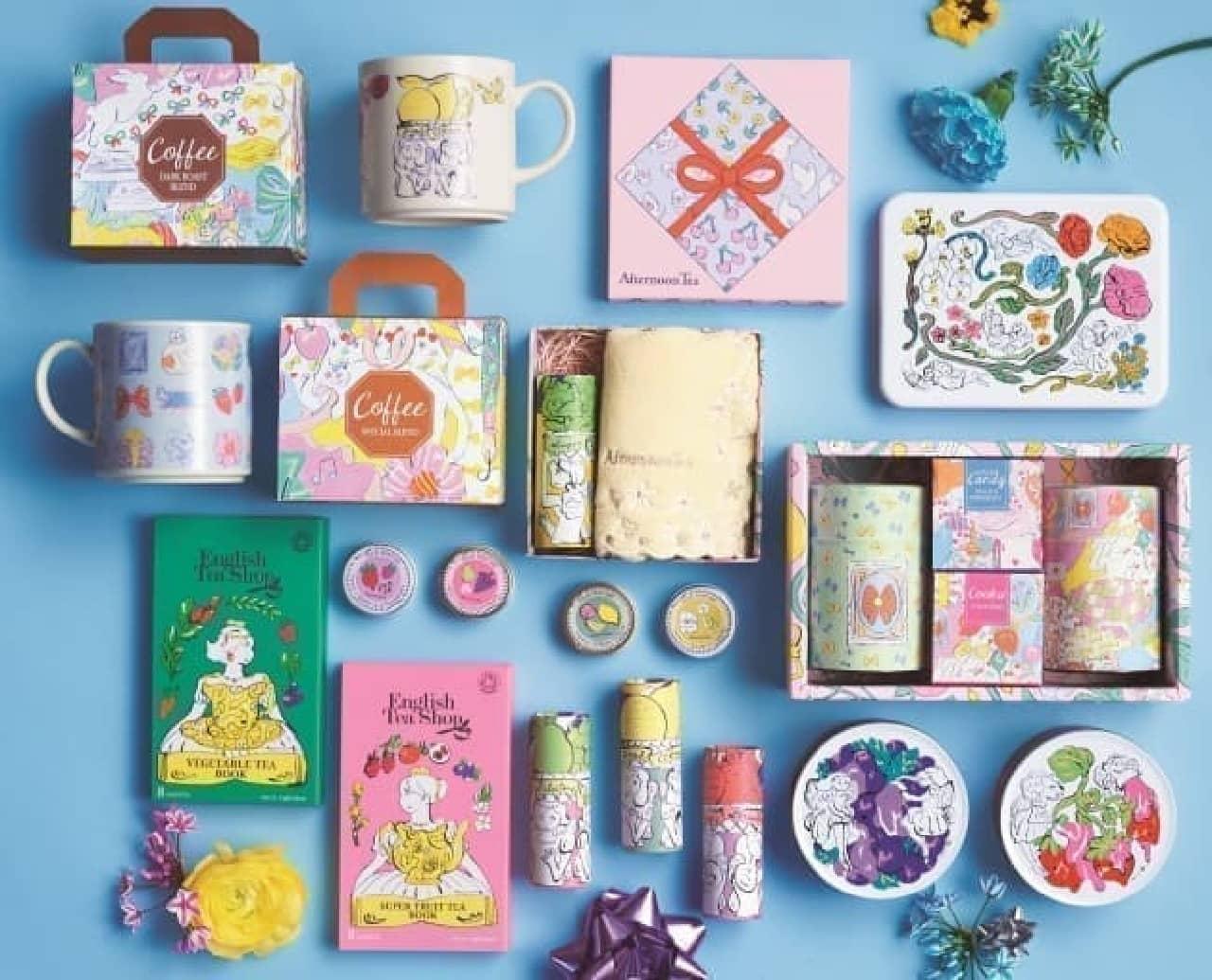Afternoon Tea LIVINGから春限定ギフト商品--美しいボックスに雑貨やスイーツを詰め合わせて