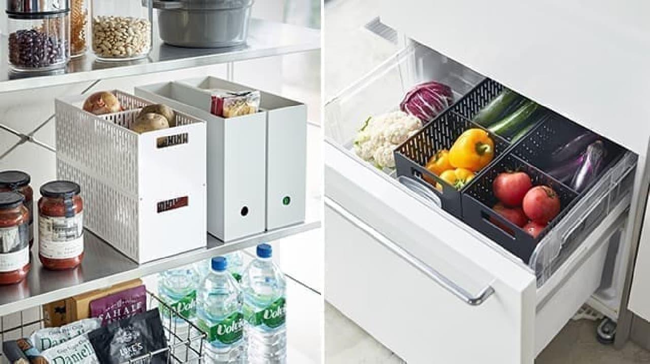 山崎実業のキッチン用品、ベジタブルストッカーやマグネットボード、ケーキスタンドなど