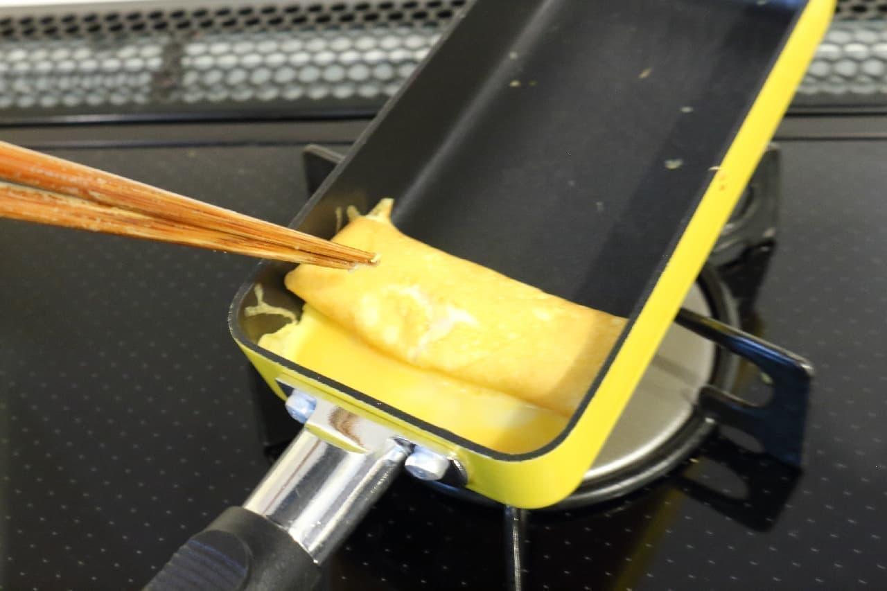 貝印の卵焼き用フライパン「たまご1個で玉子焼き」