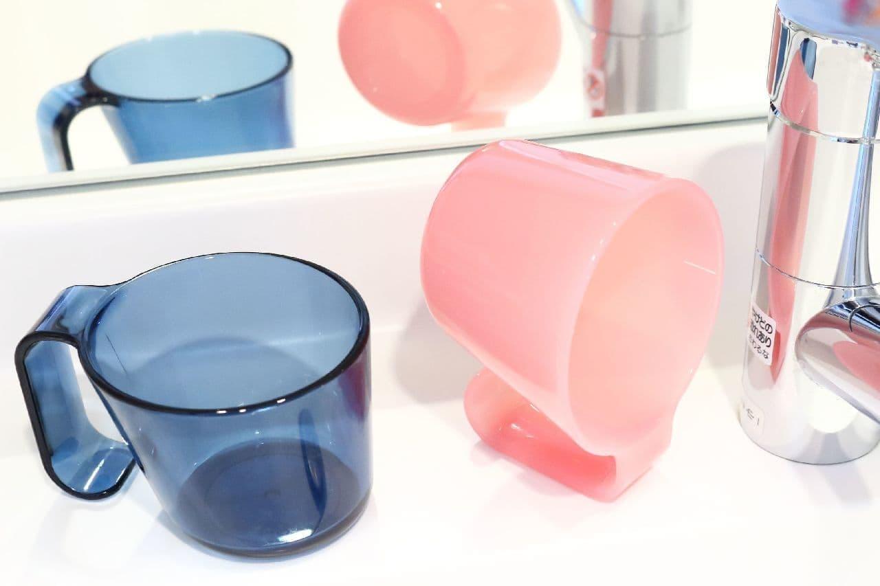 すっきり乾く洗面台用コップ「プリスベイス タンブラー」