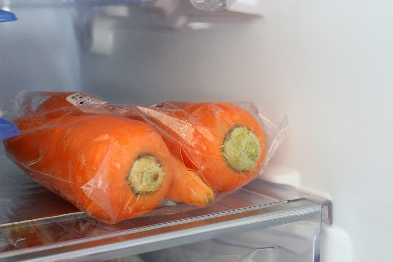 冷蔵庫に入れるニンジンの保存法