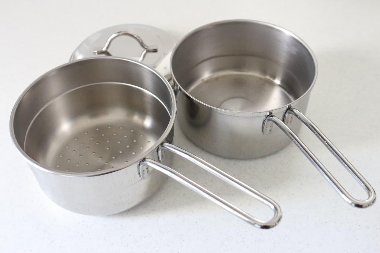 貝印「ユータイム3 ミニ蒸し鍋 14cm」