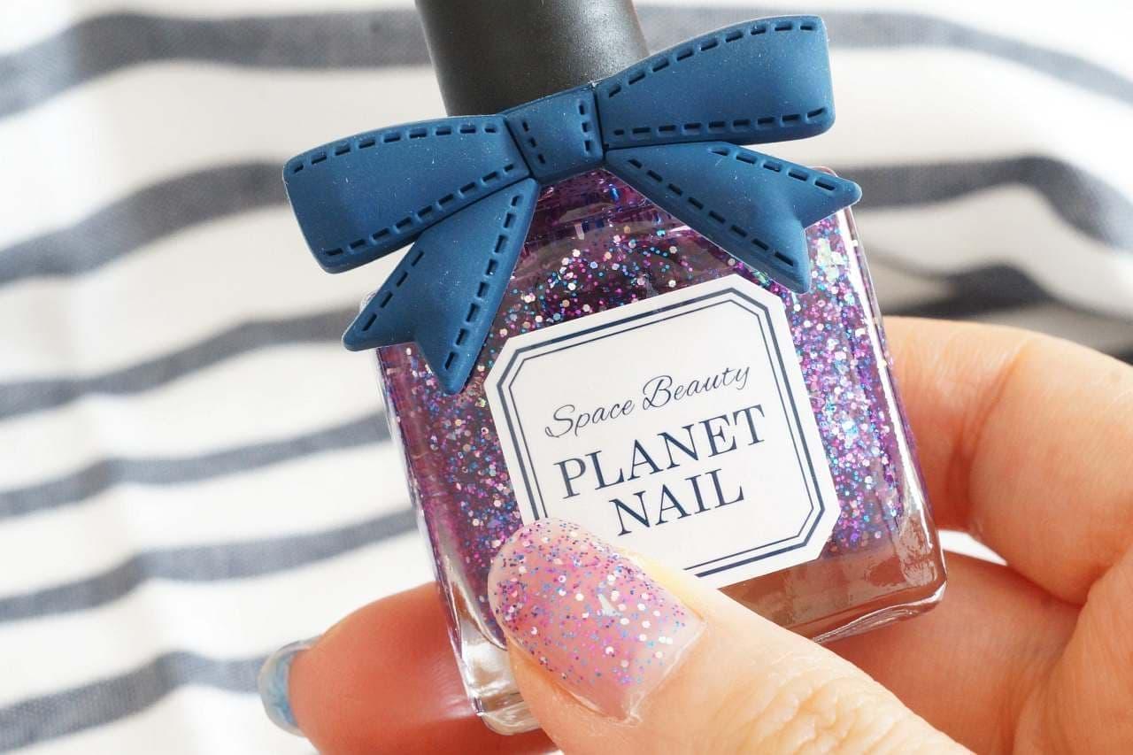 プラネット ネイルを塗った爪