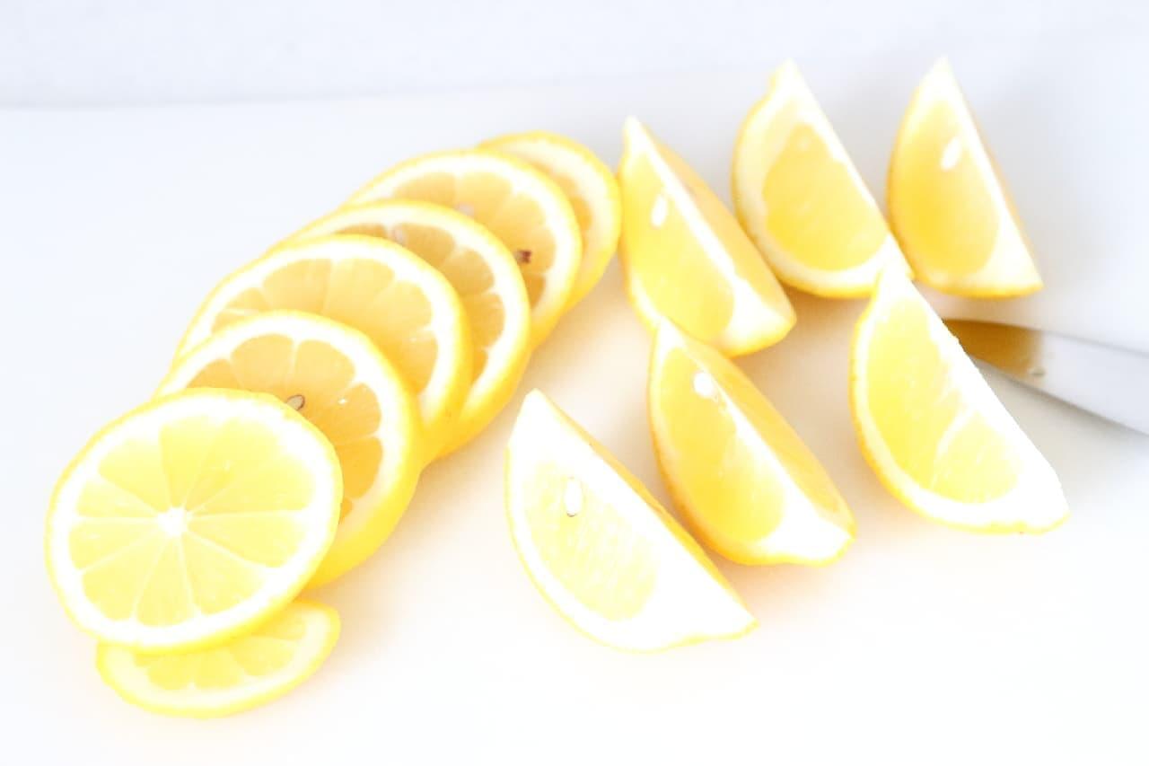 レモンの冷凍保存法