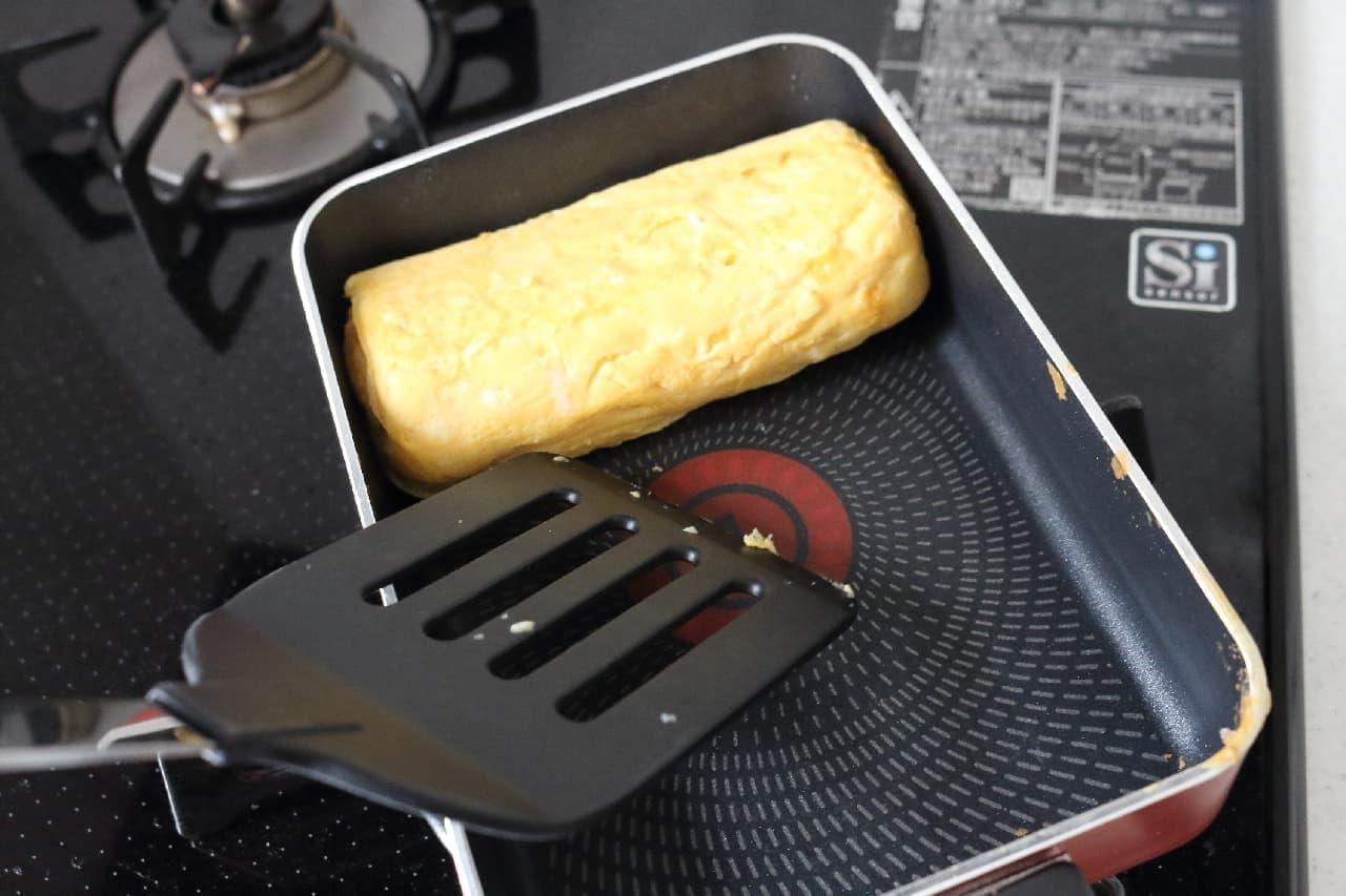 納豆のタレで作る卵焼き