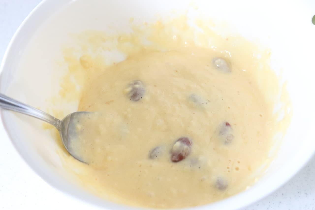 金時豆のホットケーキのレシピ