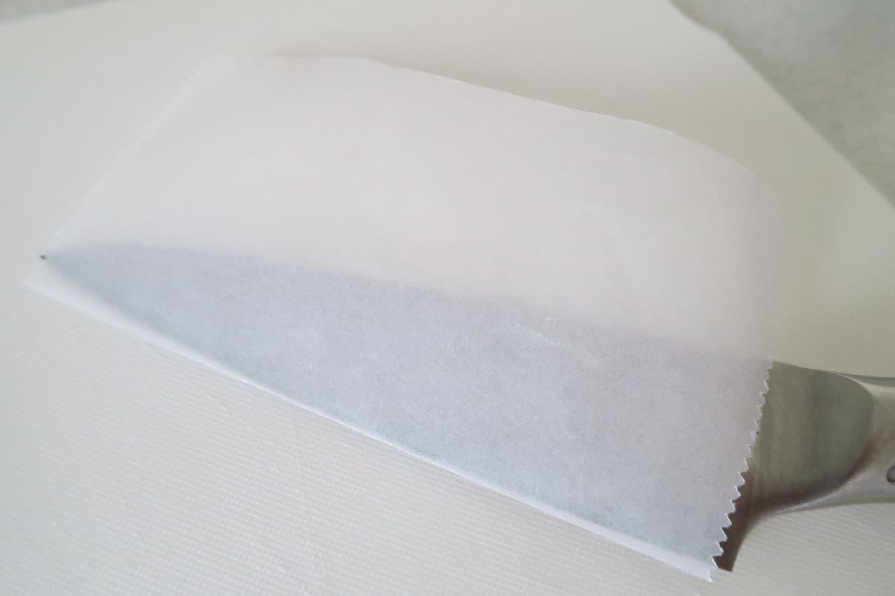 ステップ1カマンベールチーズのきれいな切り方 -- クッキングシートで簡単に